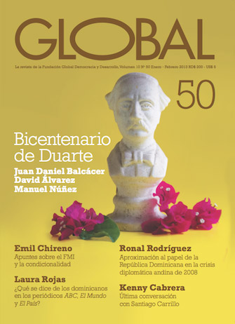 Portada de la revista Global No. 50